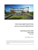 Adana Entegre Sağlık Kampüsü Projesi Çevresel ve Sosyal Etki