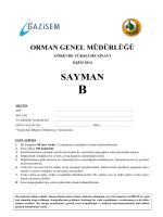 Sayman B - Orman Genel Müdürlüğü