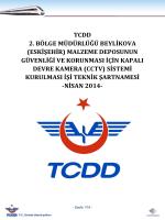 TCDD 2. BÖLGE MÜDÜRLÜĞÜ BEYLİKOVA (ESKİŞEHİR