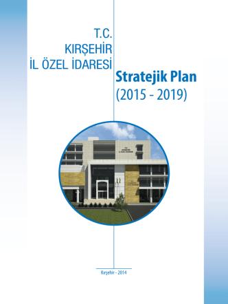 2019 Stratejik Planı - Kırşehir İl Özel İdaresi