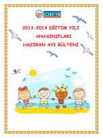 2013-2014 eğitim yılı anasınıfları haziran ayı bülteni