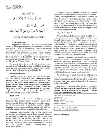 30.05.2014 İşçi İşveren Sorumluluğu