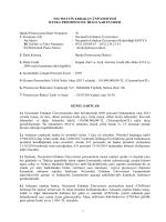 İhale Şartnamesi - Necmettin Erbakan Üniversitesi
