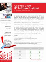 CooVox-U100 IP Telefon Sistemi