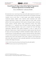Sosyal Kaygı İle Başa Çıkma Psiko Eğitim - EBAD-JESR