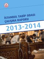 istanbul tabip odası çalışma raporu