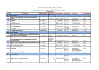 2014 yılı hasta hizmetleri ve sağlık otelciliği birimine bağlı