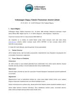 Volkswagen Doğuş Finansman A.Ş. 2013 Yılı Faaliyet Raporu