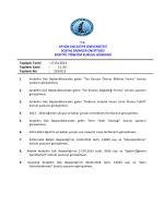 17.04.2014 Tarih ve 2014-13 Sayılı Karar