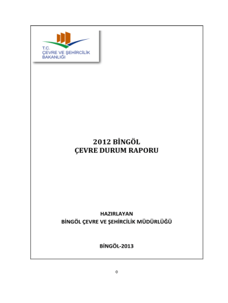 Bingöl - Çevre ve Şehircilik Bakanlığı
