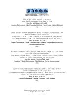 içindekiler / contents - The Journal of Academic Social Science