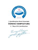 Sempozyum Programı ve Bildiri Özetleri1.24 MB