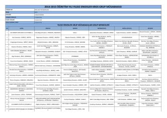2014-2015 öğretim yılı yıldız erkekler kros grup müsabakası