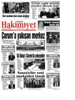 12 Mart 2015 Perşembe - Çorum Hakimiyet Gazetesi