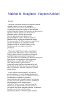 Mahlon B. Hoagland - TURAN DURSUN KÜTÜPHANESİ