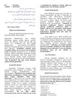 ĠLĠ : MANĠSA TARĠH : 02/01/2015 Muhterem Müslümanlar Bu