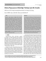 Döviz Piyasasının Etkinliği: Türkiye için Bir Analiz