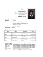 CV AYSEL ÖZPINAR Department of Medical Biochemistry Medical