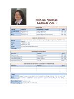 Prof.Dr.Neriman BAĞDATLIOĞLU
