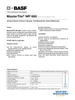 MasterTile® WP 665 (Eski Adı Yapfleks® 305) Çimento