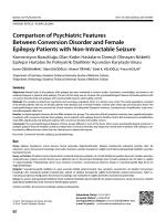 Comparison of Psychiatric Features Between