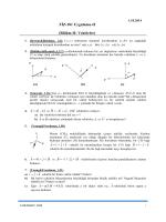 FİZ-101 Uygulama-II (Bölüm