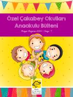 Özel Çakabey Okulları Anaokulu Bülteni