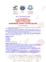 türk sanatları, kongresi/ sanat etkinlikleri