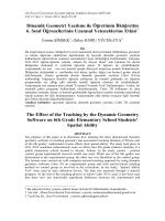 Dinamik Geometri Yazılımı ile Öğretimin İlköğretim 6. Sınıf
