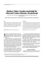 PDF - Modern Tıbbın Yeniden Keşfettiği Bir Alternatif Tedavi Metodu