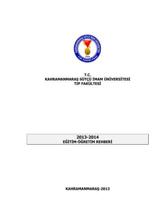 2013-2014 Eğitim Öğretim Lisans Programı