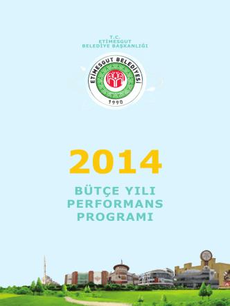2014 Bütçe Yılı Performans Programı