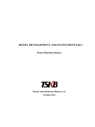 17. Hotel Development Investment Bağlı Ortaklık