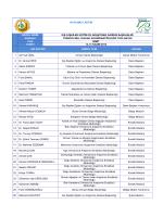 katılımcı listesi düzen. birim dış ilişkiler eğitim ve araştırma dairesi