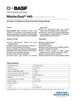 MasterSeal® 440 (Eski Adı MASTERFLEX® 540) PU