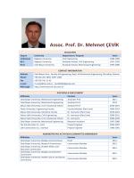 Assoc. Prof. Dr. Mehmet ÇEVİK