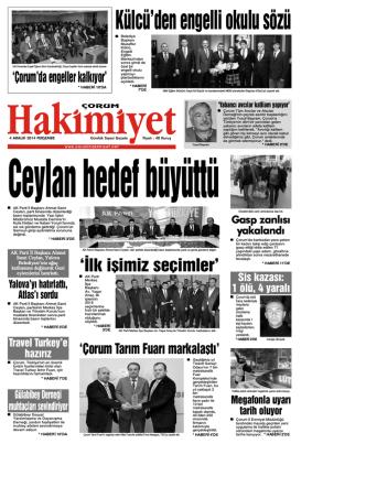 (4 aral\375k.qxd) - Çorum Hakimiyet Gazetesi