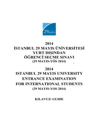 29 MAYIS-YÖS 2014 - Marmara Üniversitesi
