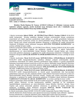 2014 haziran ayı meclis kararları