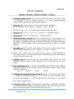 FİZ-101 Uygulama-I (Bölüm-I: Birimler, Fiziksel Nicelikler ve Ölçme)