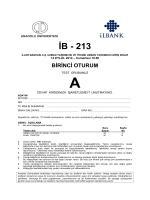 İB - 213 - Anadolu Üniversitesi Sınav Hizmetleri