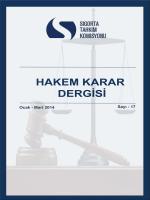 Mart 2014 tarihli Hakem Karar Dergisini incelemek için tıklayınız