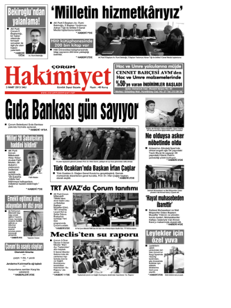 3 mart.qxd - Çorum Hakimiyet Gazetesi