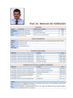 Prof. Dr. Mehmet Ali YURDUSEV - Hasan Ferdi Turgutlu Teknoloji