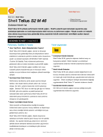 Page 1 Teknik Bilgi Formu Eski İsmi : Shell Tellus Shell Tellus S2 M