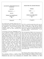 Malta Şubesi Türev Ürünler Çerçeve Sözleşmesi