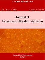 Journal of Food and Health Science E- ISSN 2149-0473
