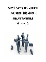 mbys satış teknikleri müşteri ilişkileri ürün tanıtım kitapçığı