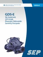GDS-E Yatay Milli Pompa ve Motor Ölçüleri