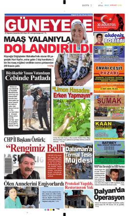 27 Ağustos 2014 - Güney Ege Gazetesi